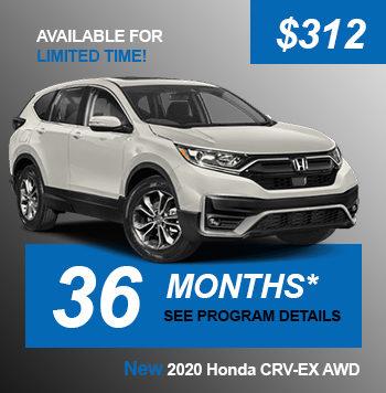NEW 2020 Honda CRV-EX AWD