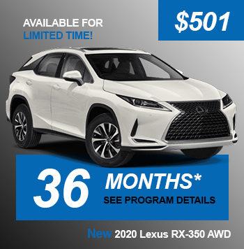 NEW 2020 Lexus RX-350 AWD